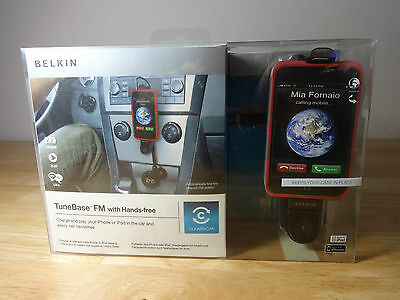 Belkin Tunebase FM with hands free listen to Ipod / Iphone 3 in car handsfree