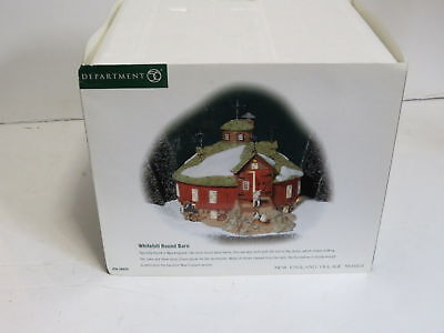 """Department 56 New England Village Series """"Whitehill Round Barn"""" - With Light"""