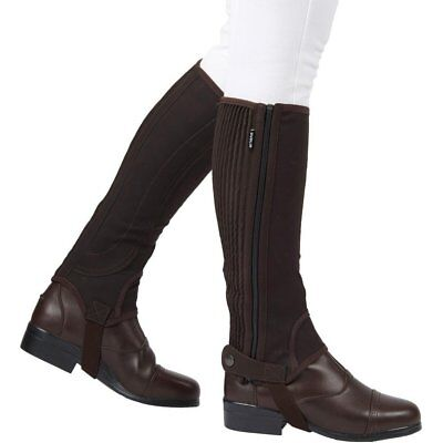 Dublin Adults Easy-care Half Unisex Footwear Chaps - Brown All Sizes