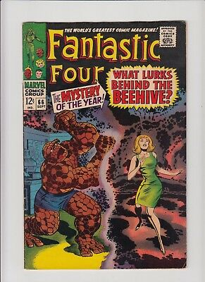 Fantastic Four #66 !! FN/VF ! Lee & Kirby ! Mention of Him, becomes Warlock !