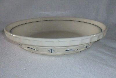 Longaberger Woven Traditions Classic Blue Pie Plate Baking Dish 10""