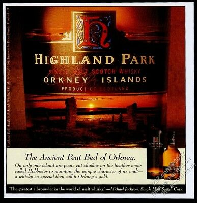 1998 Highland Park Scotch Whisky bottle photo vintage print ad