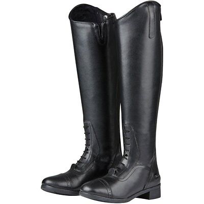 Saxon Syntovia Field Womens Boots Long Riding - Black All Sizes