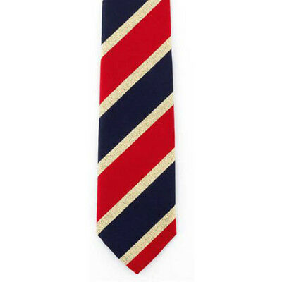 Showquest Lurex Unisex Accessory Tie - Navy/red /gold All Sizes