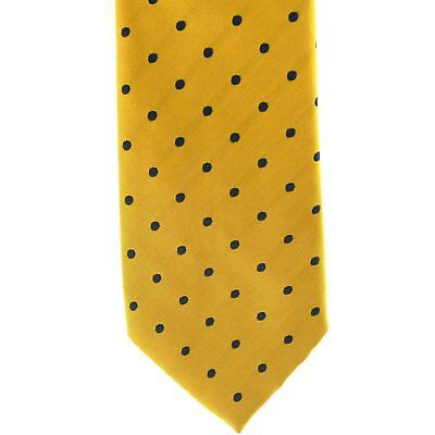 Showquest Woven Medium Spot Unisex Accessory Tie - Gold/navy F) All Sizes