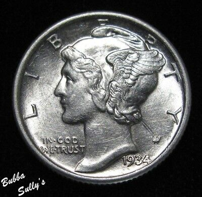 1934 Mercury Dime <> ABOUT UNCIRCULATED