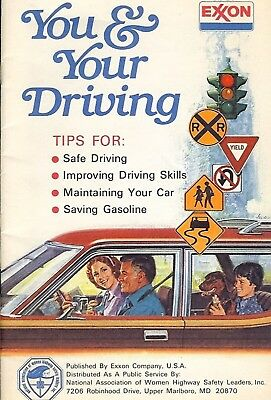 (c)1978 EXXON-You & Your Driving-Booklet in Great Shape