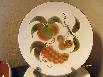 """Stangl """"orchard Song""""  3 Dinner Plates (1 Crazed) & Gravy W/issues Approx $65 Va"""