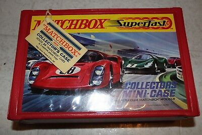 MatchBox Superfast Mini Case W/ Tag Amazing Condition Vintage 1970 Lesney