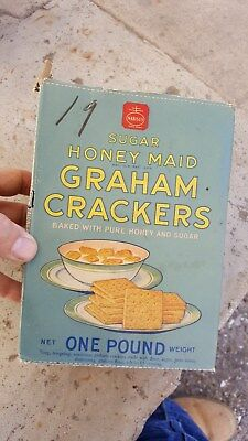 National Bisquit Co,Nabisco Honey Maid Graham Crackers Box for Display,19c Price