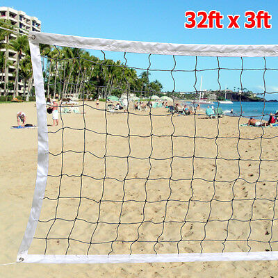32 FTx3 FT Volleyball Net With Steel Cable Rope Outdoor Indoor USA Seller NEW