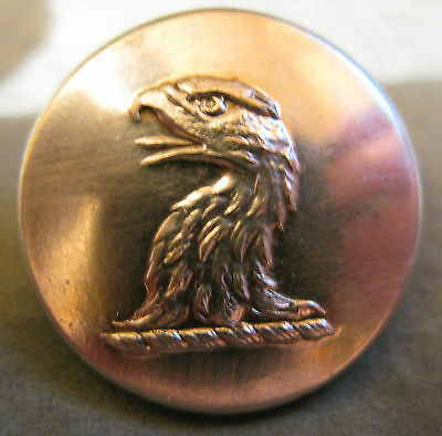 "Large 1""+ Antique Silver Plated Livery Button - Gorgeous Eagle Head"