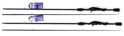 """*(Lot Of 2) Zebco Atac Atacc662Mh 6'6"""" Medium Heavy Two Piece Casting Rod"""