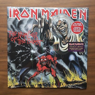 Iron Maiden - The Number Of The Beast Vinyl LP Black 180 Gram Sealed New