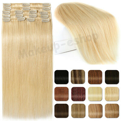 Special Offer 100% Clip in Remy Human Hair Extensions Length Volume Full Head
