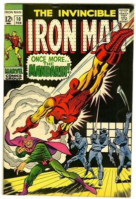 Iron Man #10 (1969) VF- Double Cover New Original Owner Marvel Comics Collection
