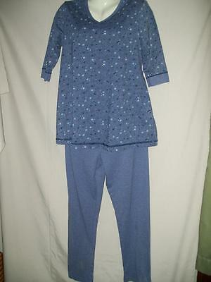 Misses DUO MATERNITY Pantsuit Outfit Slate Blue Size S Small EUC