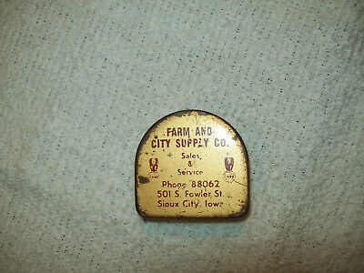 IA Case Farm Equipment Tractor Advertising Pocket Tape Measure Sioux City Iowa