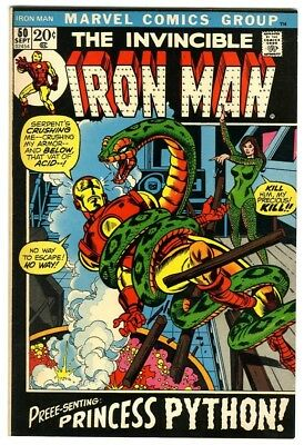 Iron Man #50 (1972) VF/NM New Original Owner Marvel Comics Collection