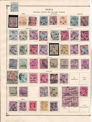 India 2 Pages of Classic Officials