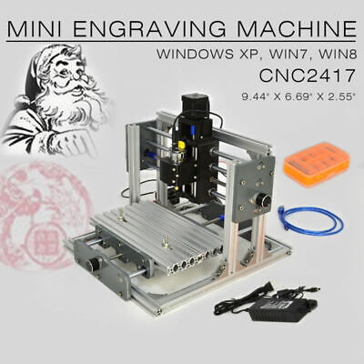 CNC 2417 Mini DIY Mill Router Kit Metal Engraver PCB Milling Machine USBDesktop