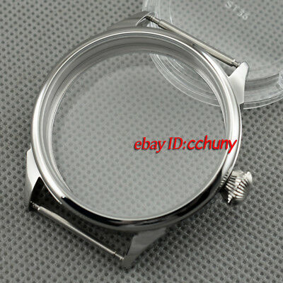 Corgeut 42mm Stainless Steel Case Fit 6497/6498 Seagull ST36 movement P637