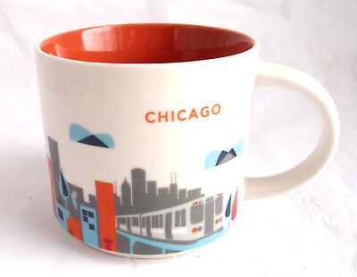 Starbucks 2013 Chicago You Are Here Collection Cup Mug 14 Oz