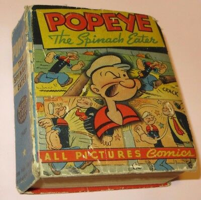 1945 vintage Popeye Better Little Book #1480 THE SPINACH EATER Whitman King S F