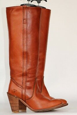 Tall Beautiful Frye leather Riding boots 6.5 B In Excell Cond! Beautiful PATINA!