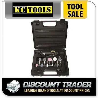 KC Tools Pneumatic/Air Die Grinder Kit with 10 Mounted Points - SM513