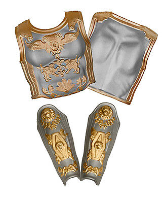 Adult Foam Roman Armor Chest & Back Plates w/ Leg Guard Greaves Costume Set
