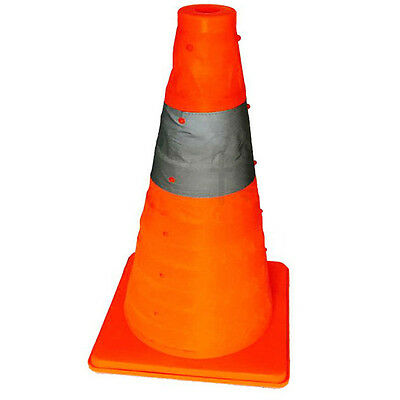 """45 CM 18""""Folding Collapsible Traffic Multi Purpose Pop up Reflective Safety Cone"""