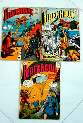 1950s BLACKHAWK COMIC BOOK COLLECTION ISSUE #145, 101, AND ISSUE #140