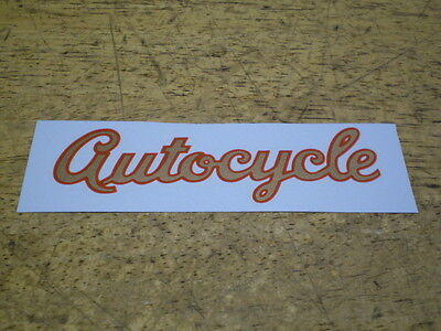 Mint Vintage OEM Schwinn Approved Autocycle Bicycle Downtube or Tank Decal
