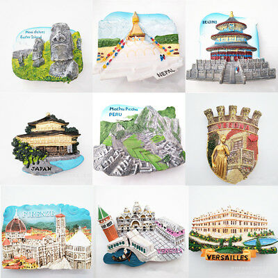Paris Tourist Souvenir Gift Favorite Fridge 3D Resin Fridge Magnet 12 Styles
