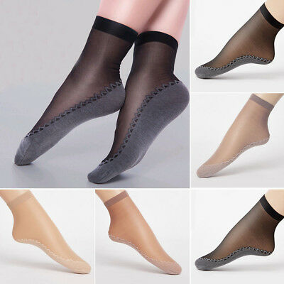 NEW Ultra-thin Elastic Silk Short Silky Stockings Women Ankle Socks 4 Colors