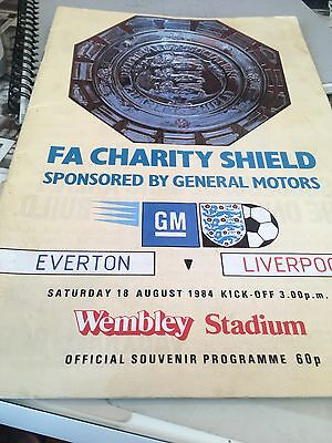 Liverpool FC v Everton FC - Charity Shield Original Official Programme