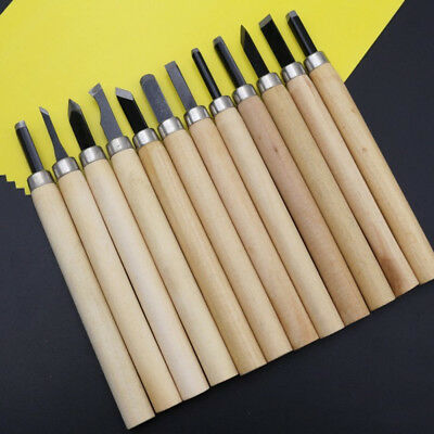 6/10/12pcs Wood Carving Hand Chisel Woodworking Professional Lathe Gouges Tool