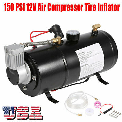Dc 12v truck pickup on board air horn air compressor 150psi 3 liter dc 12v truck pickup on board air horn air compressor 150psi 3 liter tank set publicscrutiny Choice Image