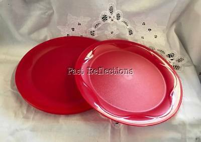 Tupperware Ruby Red Open House Dinner Plate Set Of 4