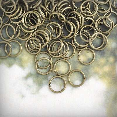 Approx 540pcs 30g Antique Brass Open Jump Rings 6mm Connectors Jewelry Makings