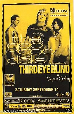 GOO GOO DOLLS /THIRD EYE BLIND 2002 SAN DIEGO CONCERT TOUR POSTER-Buffalo Rocks!