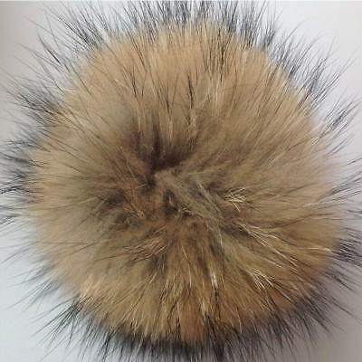 Popular 10cm Faux Raccoon Fake Fur Fluffy Pompom DIY Beanie Hats Pom Pom Balls