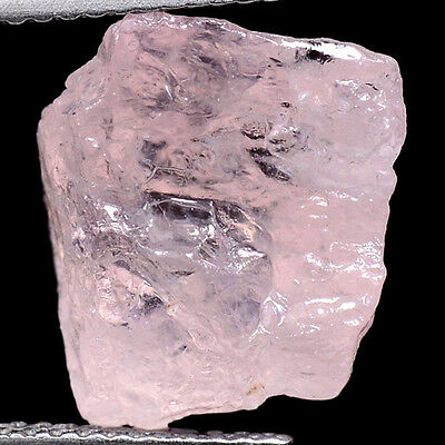 ORANGEY PINK 9.60ct NATURAL100% UNHEATED PINK MORGANITE ROUGH SPECIMEN NR!