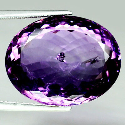 34.55 Ct Natural! Purple Clr Change To Pink Brazilian Amethyst Oval