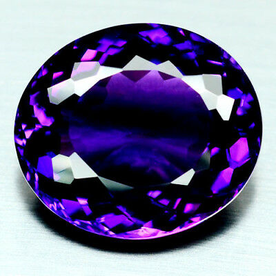 27.91 Ct Aaa! Purple Clr Change To Pink Brazilian Amethyst Oval