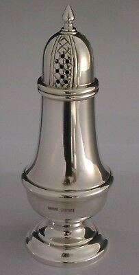 Stunning Georgian Style English Solid Sterling Silver Sugar Caster / Shaker 1987