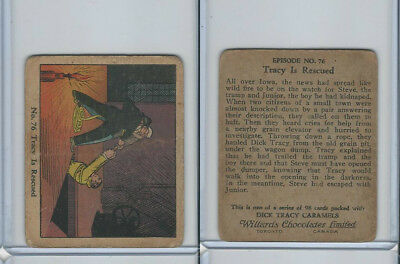 V106 Willards Chocolates, Dick Tracy, 1930's, #76 Tracy Is Rescued