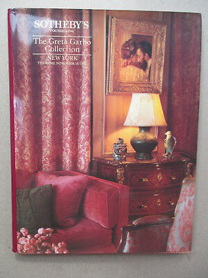 Sotheby's Catalog THE GRETA GARBO COLLECTION 1990 NEW YORK HARD COVER BOOK