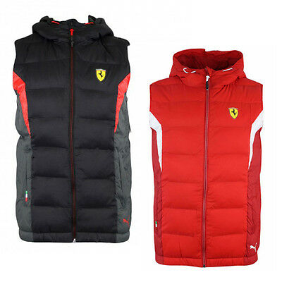 Puma Ferrari SF Padded Gilet Bodywarmer Childrens Kids Red Black 761680 01 02 R